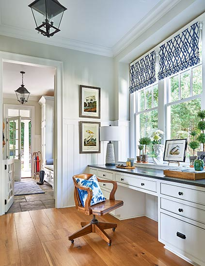 Cute office space with lots of natural light in a Hamptons Wannabe Lakehouse in SC.