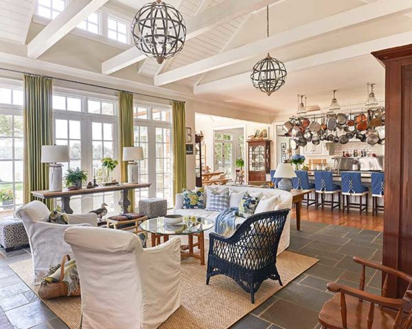 Lake Wylie, SC lake home with a beautiful, bright open floor plan for the main areas.